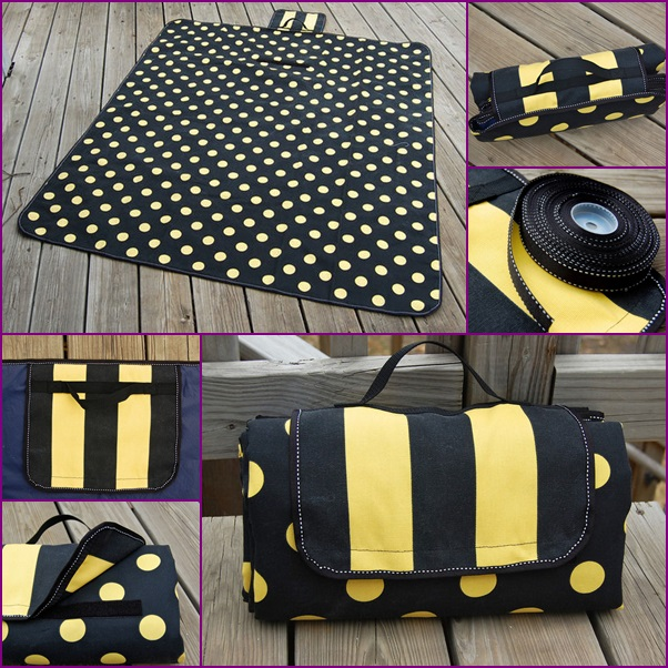 DIY Foldable Picnic Mat Free Sewing Pattern & Tutorial