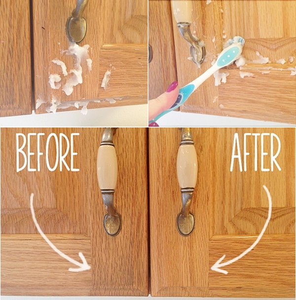 DIY 2 Ingredient Homemade Kitchen Cabinet Gunk Remover Www FabArtDIY