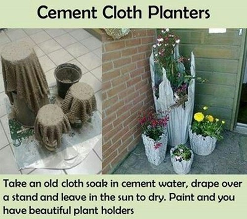 Cement cloth planter