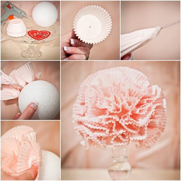 Cupcake Liner Pom Pomander
