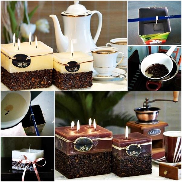 DIY Coffeebean candle