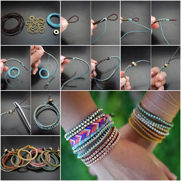 How To Diy Chic Wrap Bracelet Tutorials