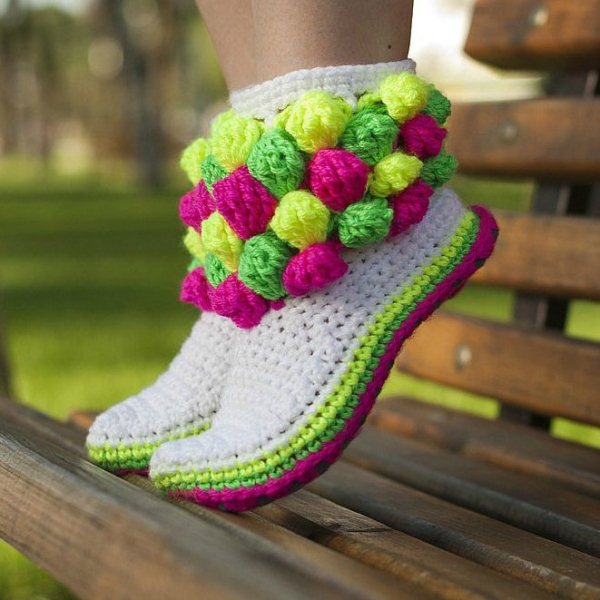 DIY Lovely Crochet Boot Slippers - Video
