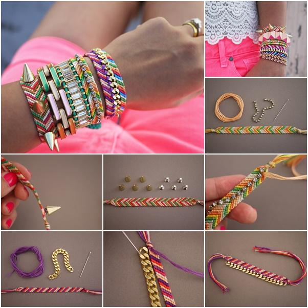 How To Diy Embellished Friendship Bracelets