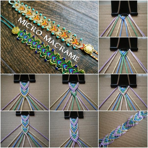 DIY Macrame Leaf Friendship Bracelet