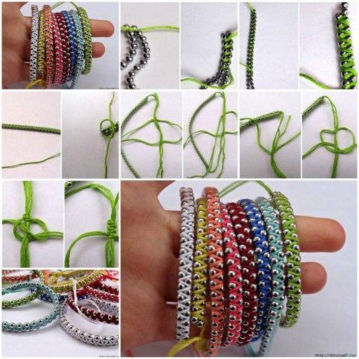 DIY Macrame Rainbow Friendship Bracelet