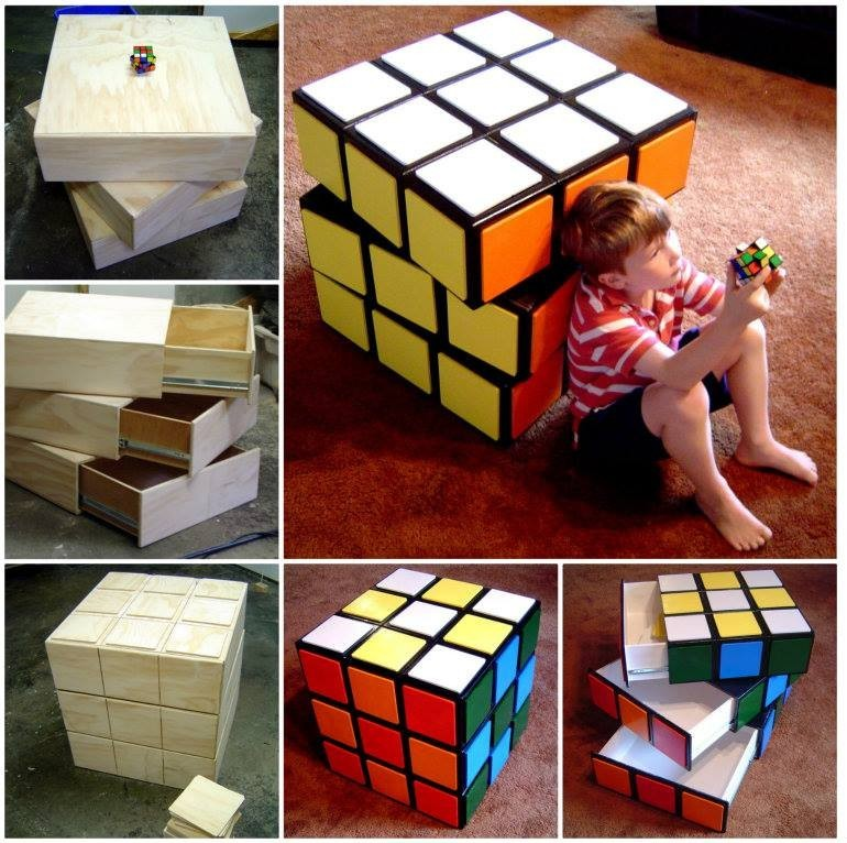 How to DIY Rubik's Cube Chest Drawers Tutorial