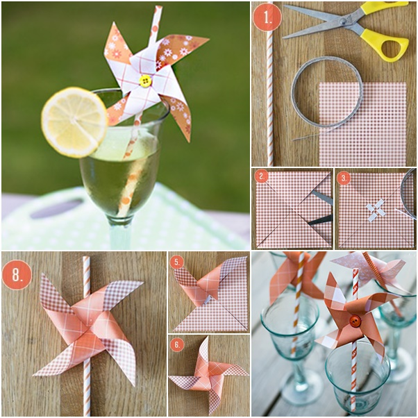 DIY Windmill straws f