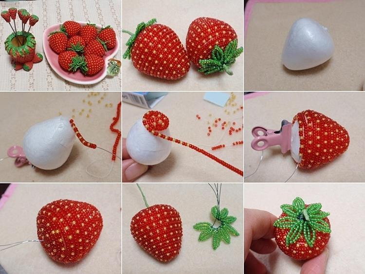 DIY bead strawberry