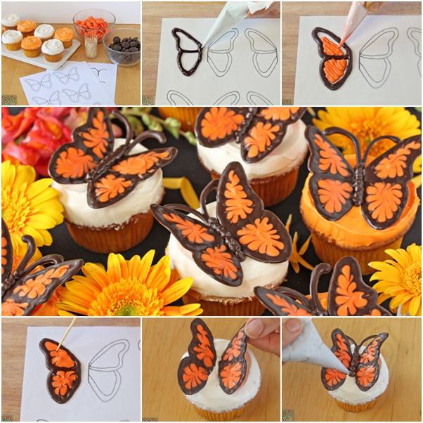 DIY Chocolate Butterflies Cupcake Topping Video