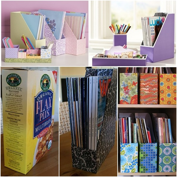 DIY Maganize File Organizer