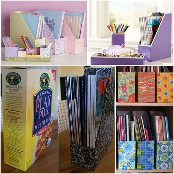 DIY maganize file organizer