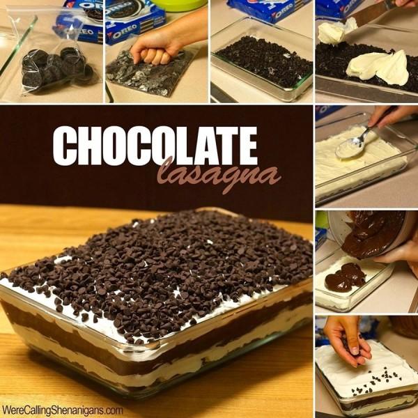 Delicious and Tempting No Bake Chocolate Lasagna Recipe