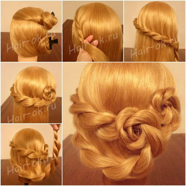 Fine Diy Side Braid Rose Flower Hairstyle Tutorial Fab Art Diy Short Hairstyles Gunalazisus