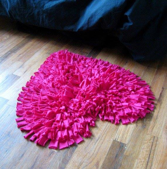 Eco bath rug from old t shirts for How to make rugs out of old t shirts