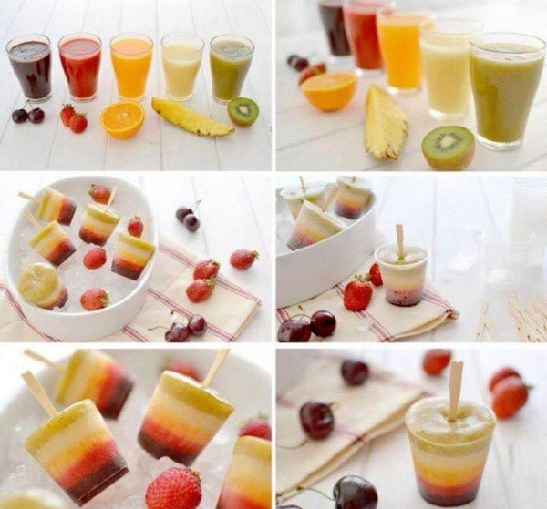 Homemade Ice Popsicles