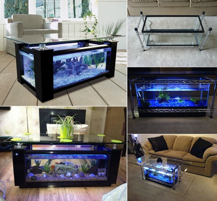 How To DIY Aquarium Coffee Table f