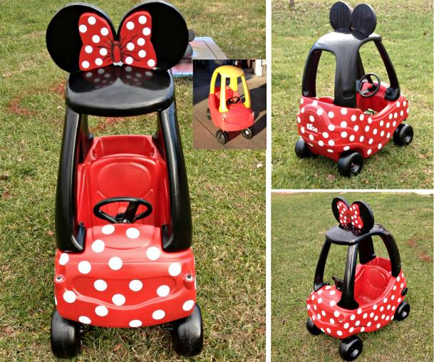 How To Make Minnie Mouse Car Fab Art Diy