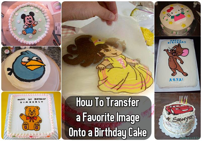How To Transfer A Favorite Image Onto A Birthday Cake