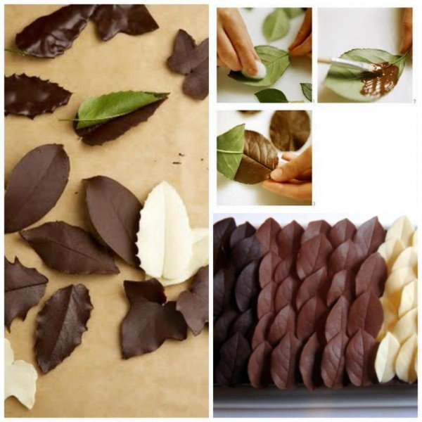 How to DIY Chocolate Leaf for cake decorating tutorial with video