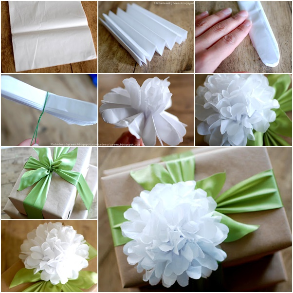 Diy easy tissue paper flower gift topper diy tissue paper flower gift topper mightylinksfo