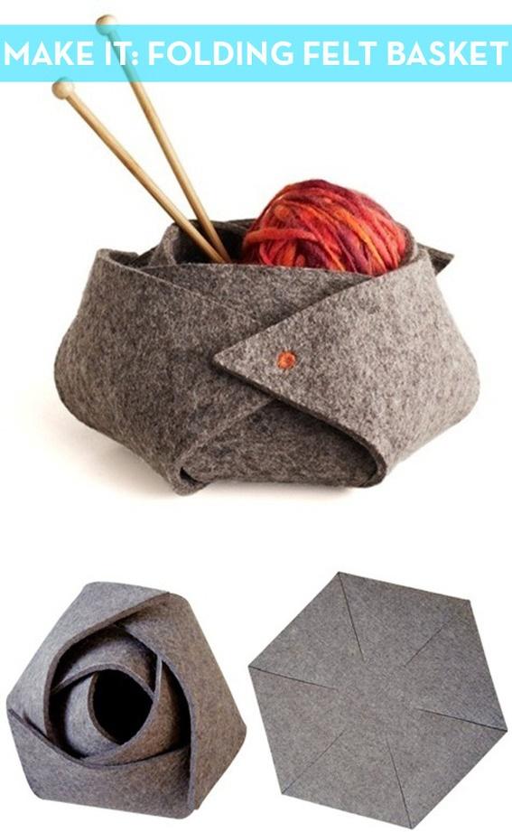 How to DIY No-Sew Felt Rose Basket