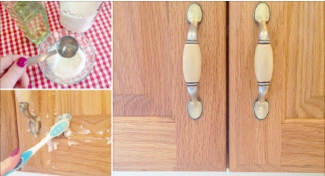 How to Make 2-Ingredient Cabinet Gunk Remover