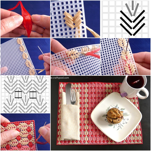 How to Make Plastic Canvas Straw Placemats