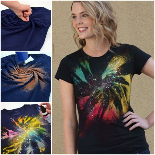 How to diy cool galaxy twist tie dye shirt for Making a tie dye shirt