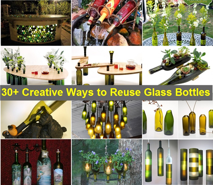 Cut wine bottle into self watering planters for How to use wine bottles in the garden