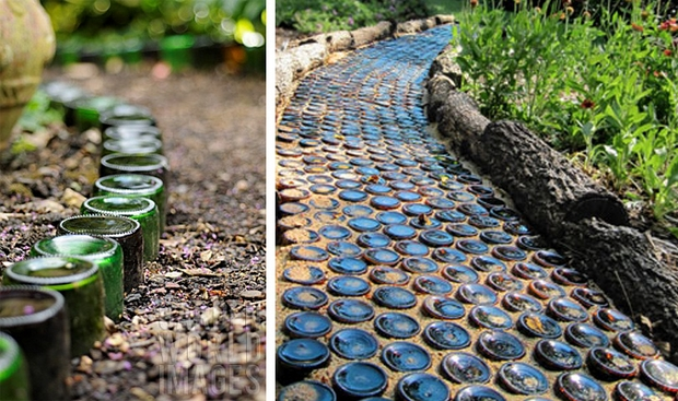 Ideas of old wine for How to use wine bottles in the garden