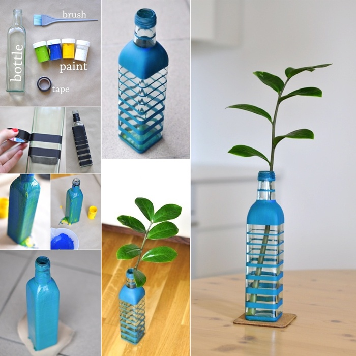 30 creative ways to reuse glass bottles Painting old glass bottles