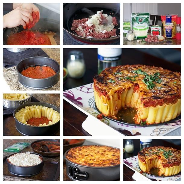 DIY Yummy and Easy Rigatoni Pasta Pie Recipe and tutorial
