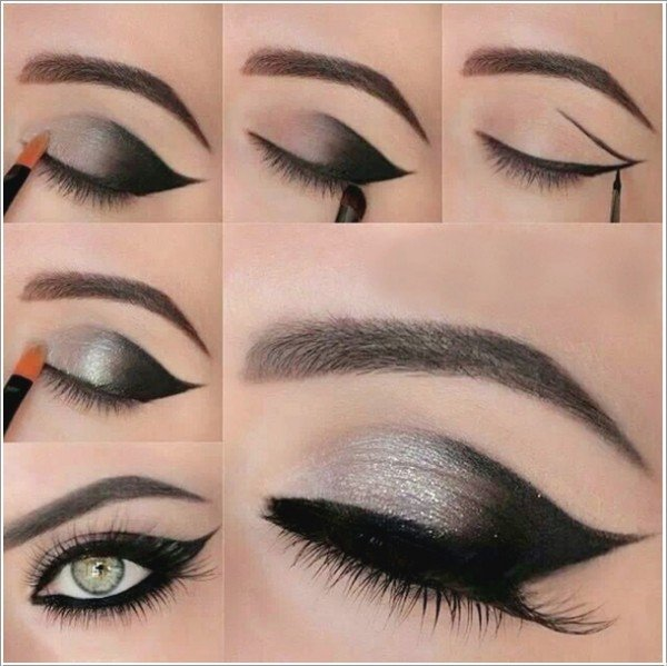 DIY Shimmery Gray Smokey Eye Makeup Tutorials