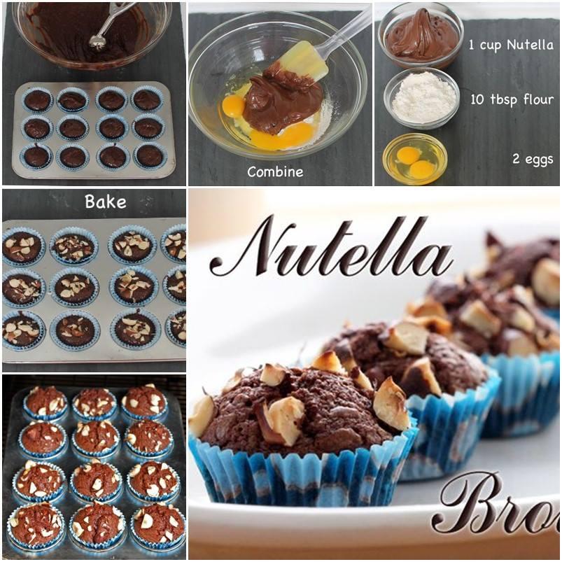 Simple 3 Ingredient Nutella Brownies