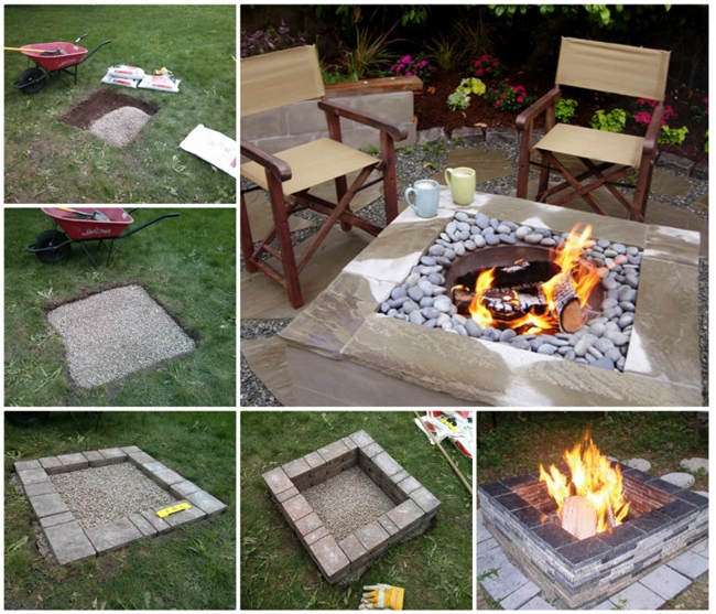 How To Make A Square Fire Pit