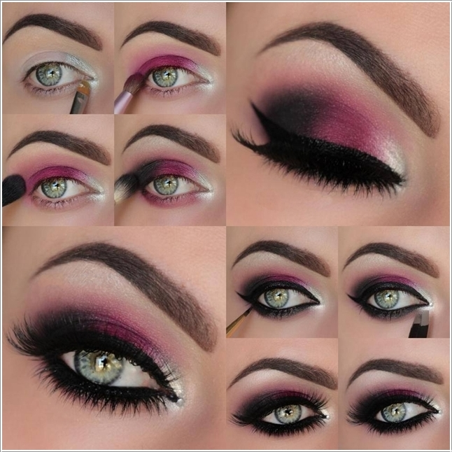 Stunning Hot Pink Smokey Eye Makeup Tutorials