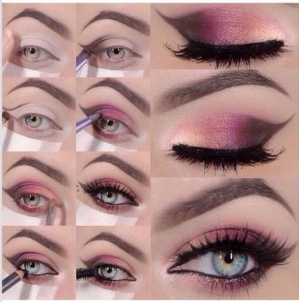 Stunning Hot Pink Smokey Eye Makeup Tutorials2