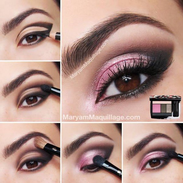 DIY Stunning Hot Pink Smokey Eye Makeup Tutorials