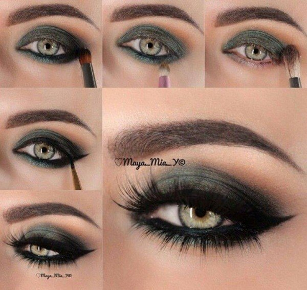 DIY Stunning Shimmery Gray Smokey Eye Makeup Tutorials