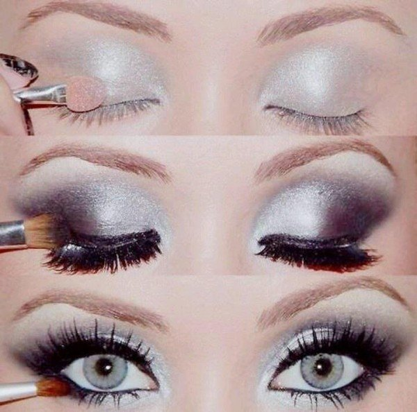 DIY Stunning Shimmery Gold Purple Eye Makeup Tutorials