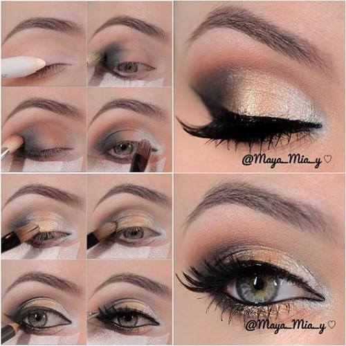 Stunning Shimmery Gold Purple Eye Makeup Tutorials