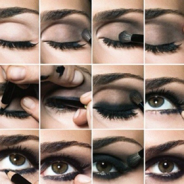 Stunning Shimmery Smokey Eye Makeup DIY Tutorials