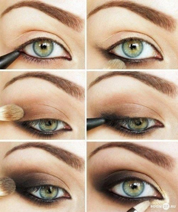 Stunning Shimmery Smokey Eye Makeup DIY Tutorials15