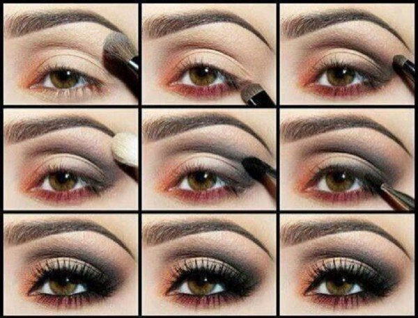 Stunning Shimmery Smokey Eye Makeup DIY Tutorials16