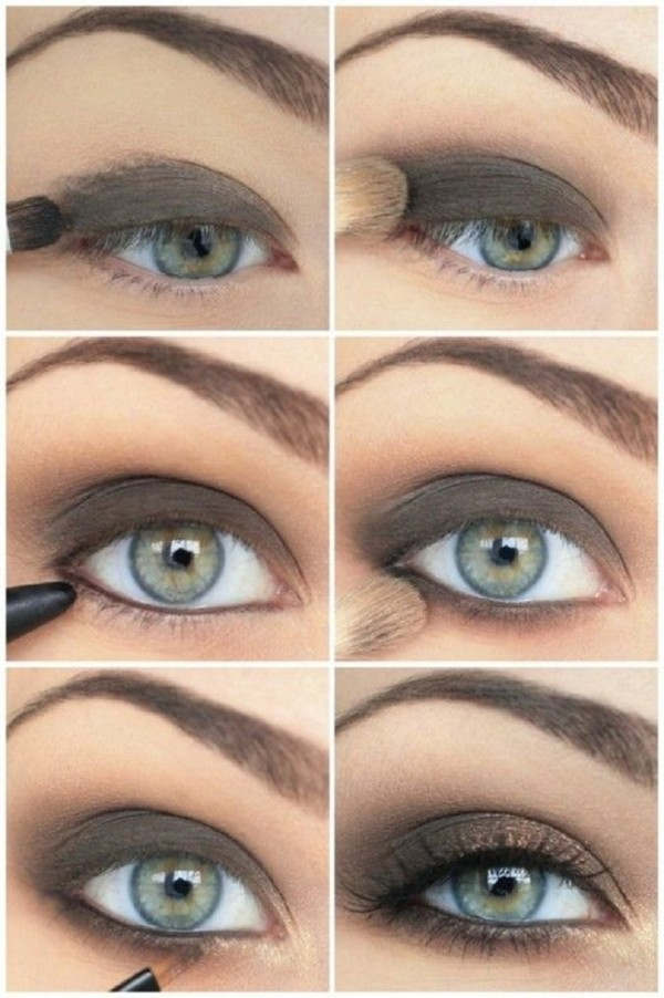 Stunning Shimmery Smokey Eye Makeup DIY Tutorials17