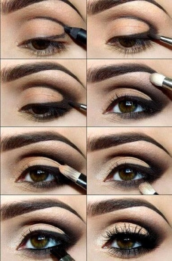 Stunning Shimmery Smokey Eye Makeup DIY Tutorials18
