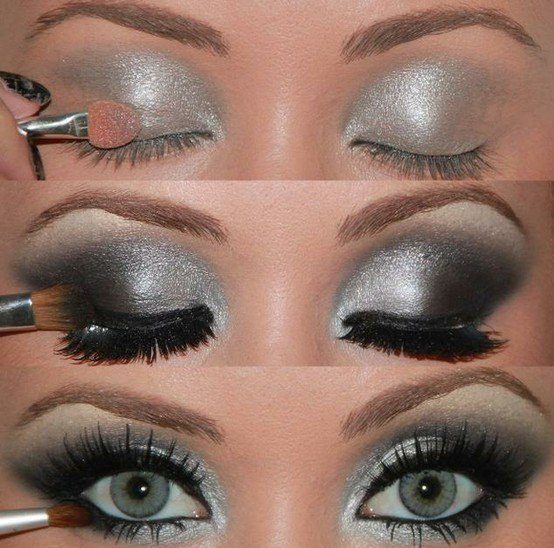 Stunning Shimmery Smokey Eye Makeup DIY Tutorials - Dramatic Smokey Eyes  tutorial