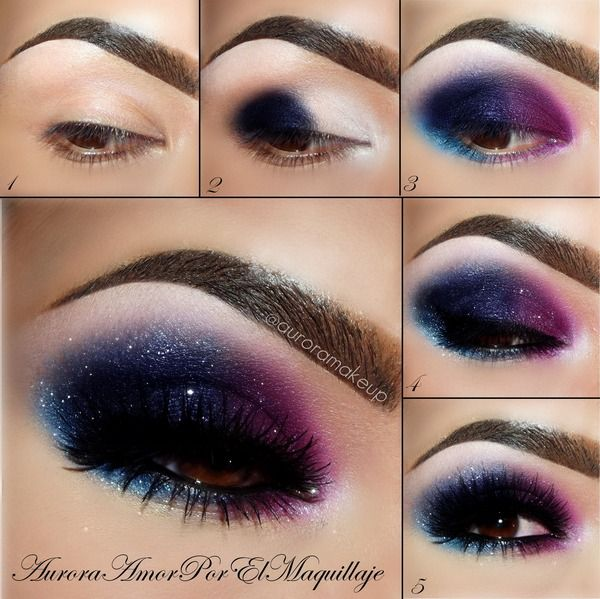Stunning Shimmery Smokey Eye Makeup DIY Tutorials - Galaxy Stars Eye Makeup tutorial