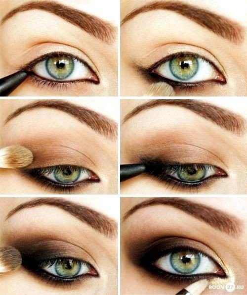 Stunning Shimmery SmokeyEye Makeup DIY Tutorials - Brown smokey eyes